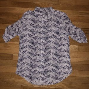 Women's Equipment button down collar shirt top